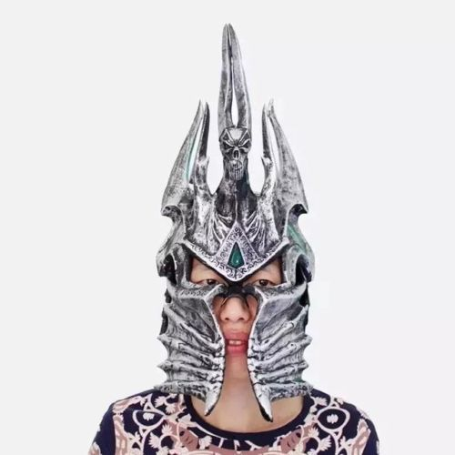 Hot 1:1 World of War craft WOW Lich King Death Knights Helmet Cosplay props toys Anime Figure Collectible Model Toy 4