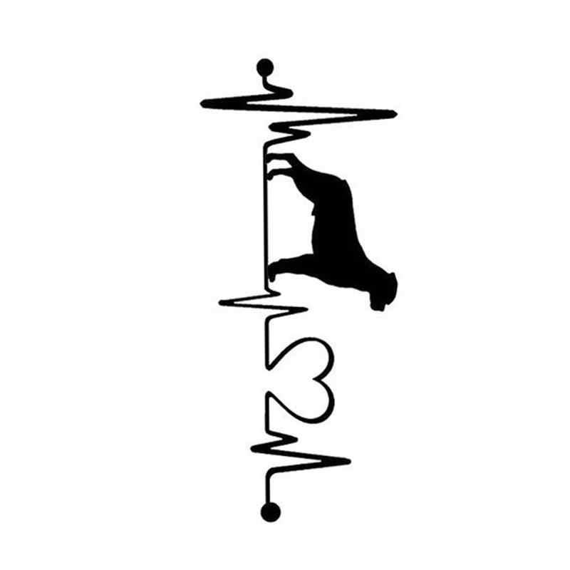Модный водонепроницаемый сердцебиение Lifeline монитор наклейка с собакой виниловая Автомобильная декоративная наклейка