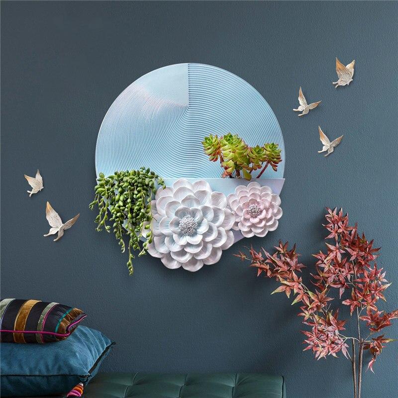 Moderne résine vert plante fleur tenture murale artisanat décoration murale maison salon mur autocollant Oranments hôtel mur Mural Art - 2