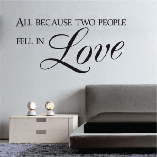 Romantic Wall Decals For Bedroom Decoration All Because Two People