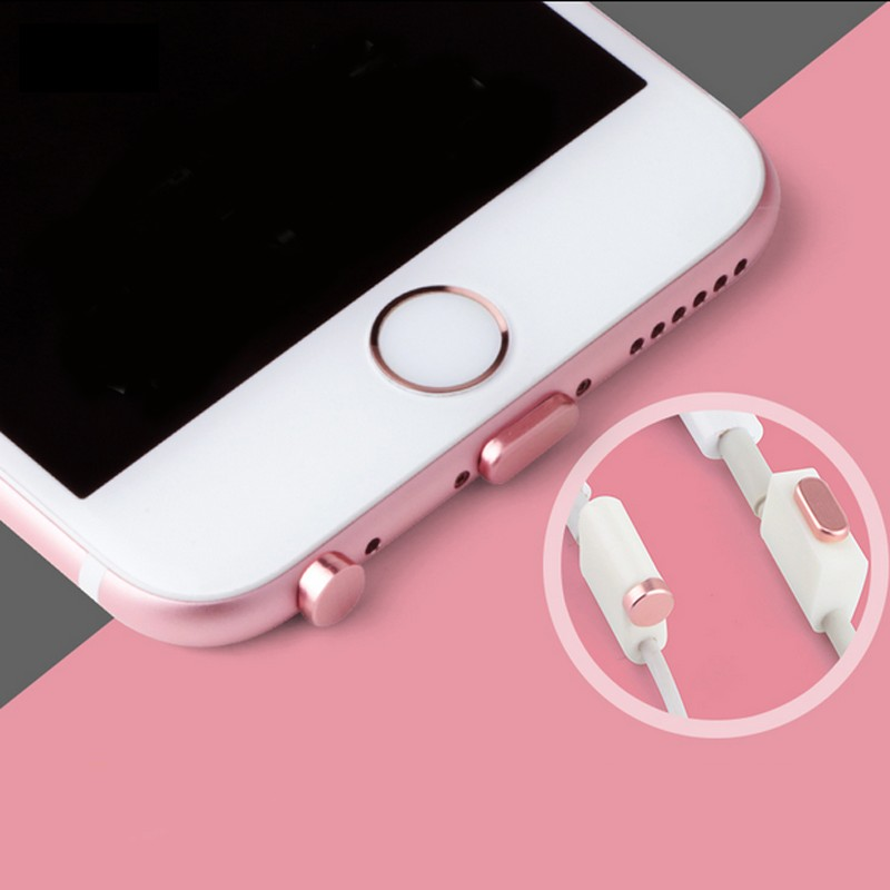 Earphone Jack Plug Anti Dustproof Dust Plug USB Charging Jack Dust Plug for iPhone X 8 Smartphone Accessories Anti-dust Plug Kit