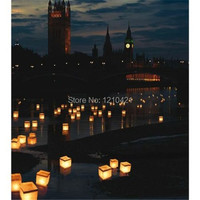 Free Shipping 15cm Fashion Wishing Praying River Light Floating Outdoor Water Lanterns Candle Tea Lights Wedding