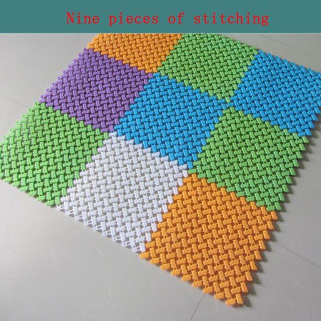 Diy Alfombras Colores Del Caramelo Plastico Alfombrillas Para Bano - Alfombras-colores