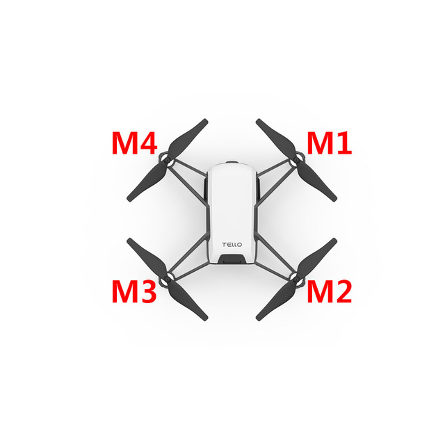4pcs set Electrical Machine Clockwise Motor CW and Counterclockwise Motor CCW for DJI TELLO for