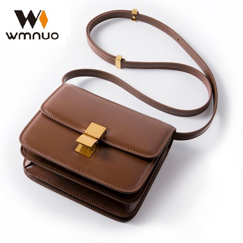 Wmnuo Small Bag Women 2019 Genuine Cow Leather High Quality Mini Shoulder Bag Women Handbags Crossbody Bags Hot Messenger Bag