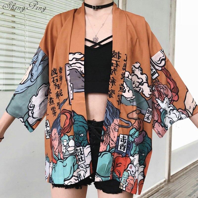 Japanischen kimono traditionellen yukata frauen kimono cosplay japanischen kleidung traditionellen japanischen kimonos kimono mädchen V730