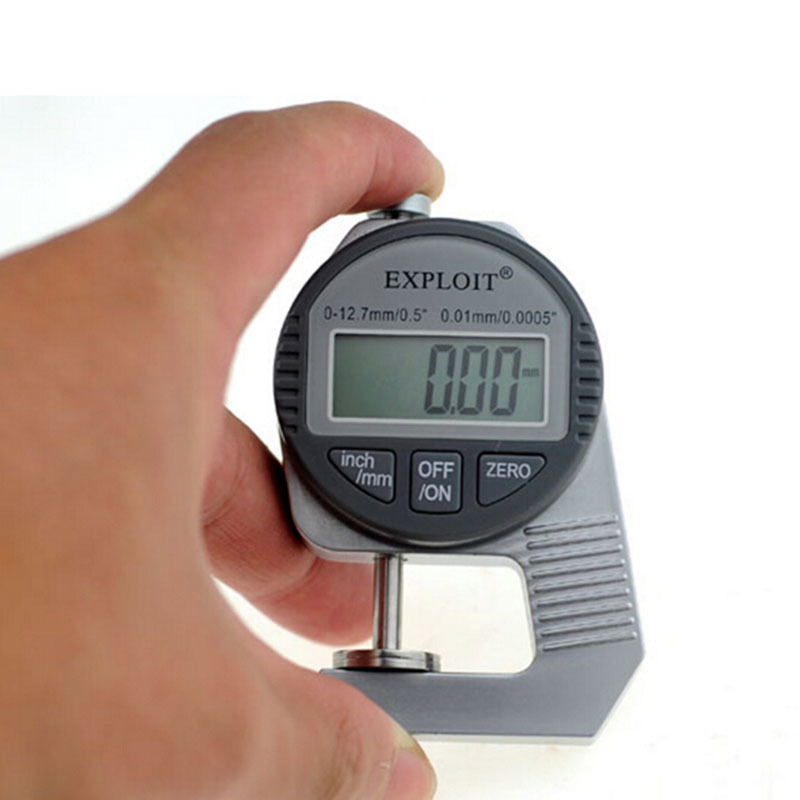 Exploit High precision 0.01MM profession digital LCD display Thickness Gauge meter paper / leather / fabric thickness tester mc 7806 digital moisture analyzer price with pin type cotton paper building tobacco moisture meter
