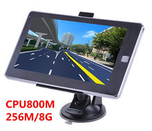 7 zoll kapazitiven bildschirm 800*480 bluetooth avin lkw Fahrzeug GPS Navigation 256 M/8 GB CPU800Mhz + freies neuesten karten auto navigator