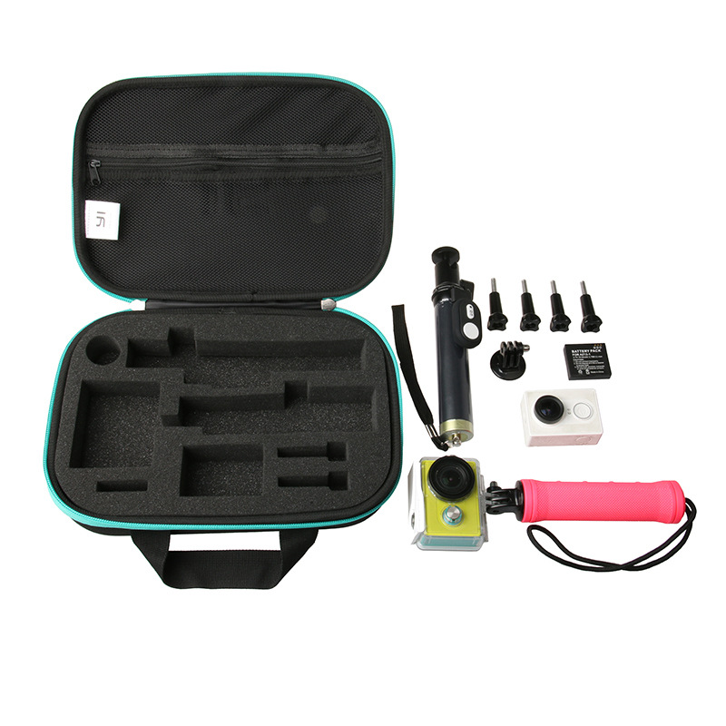 Купить с кэшбэком Xiaoyi yi sport camera accessories 5in1 Set Selfie stick storage bag waterproof case remote control lens cover for xiaomi yi