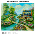 Children's intelligence learning cognition 1000 pieces of paper fantasy landscape painting fun puzzle family gathering game