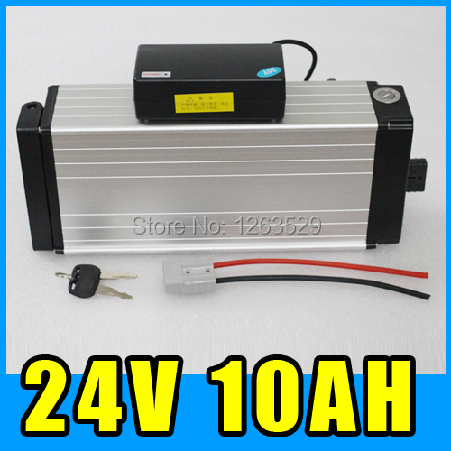 24V 10AH Rear rack Lithium Battery , Aluminum alloy Battery Pack , 29.4V Electric bicycle Scooter E-bike Free Shipping e cap aluminum 16v 22 2200uf electrolytic capacitors pack for diy project white 9 x 10 pcs