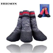 Hellomoon товары для домашних животных наружные водонепроницаемые мягкие хлопковые модные нескользящие носки для домашних животных