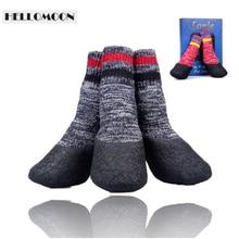Hellomoon товары для домашних животных на открытом воздухе водостойкие мягкие хлопковые модные нескользящие носки для домашних животных