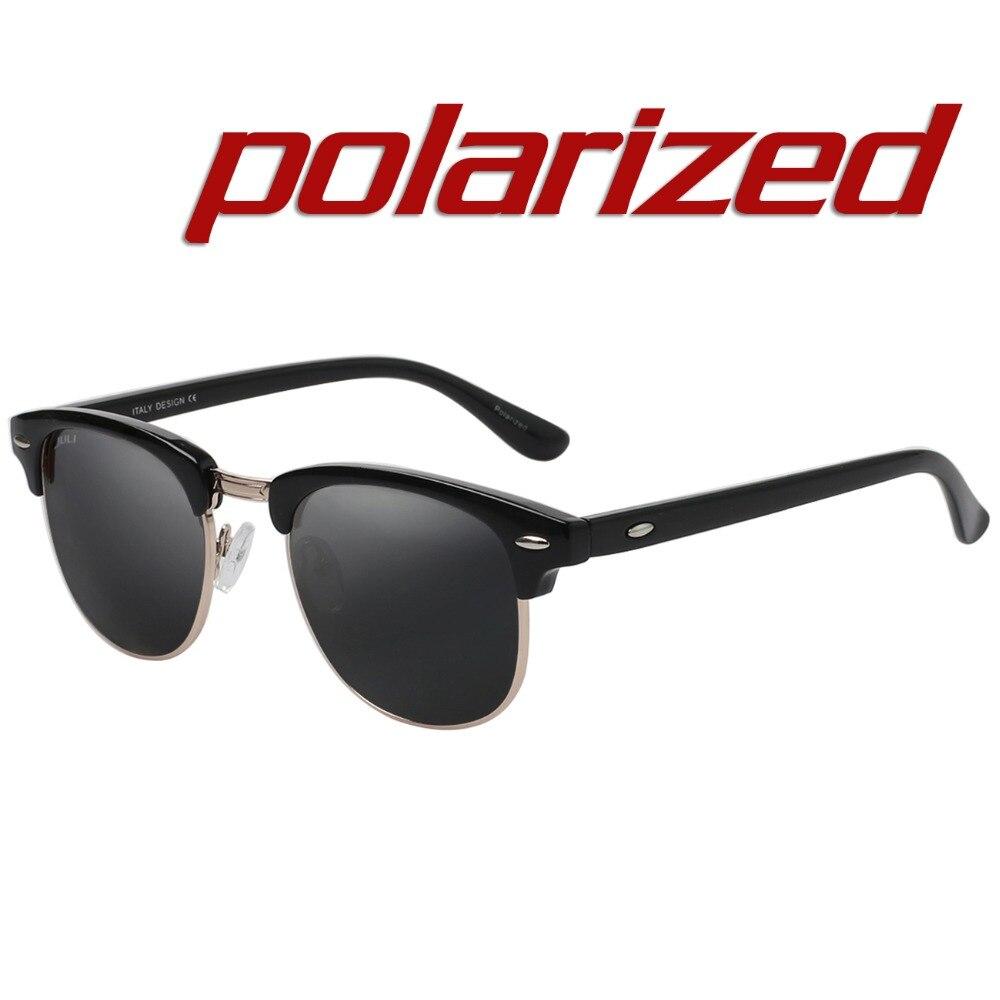 JULI Polarisées lunettes de Soleil Mode Hommes Marque Designer Semi-Sans  Monture Lunettes de Soleil Rivet Lunettes Homme Femme Unisexe Ocluos De Sol 088b9d032dac