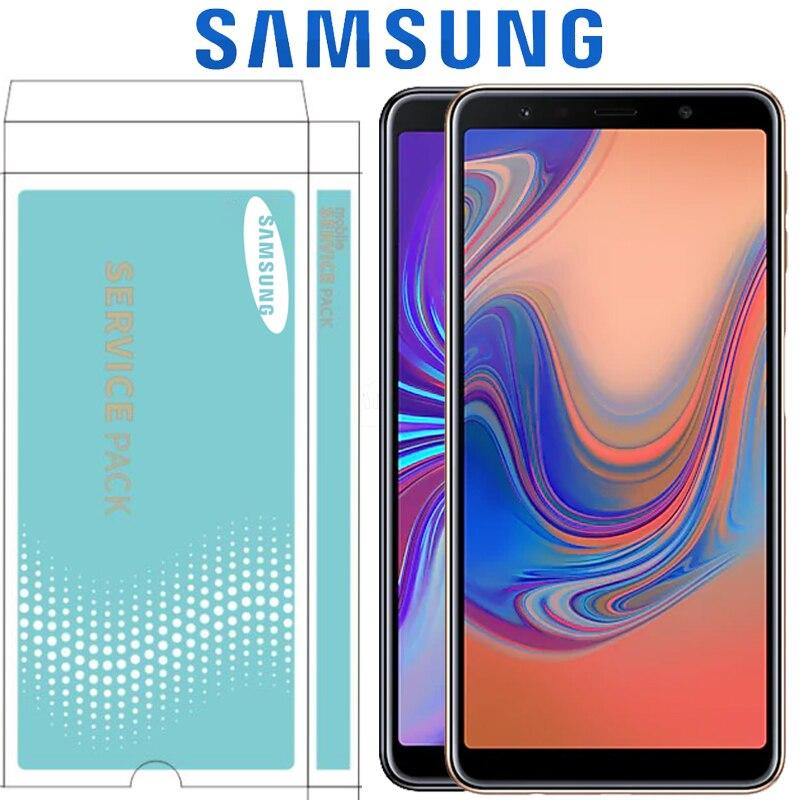 ORIGINAL 6 0 SUPER AMOLED for SAMSUNG Galaxy A7 2018 SM A750F A750F A750 LCD Display