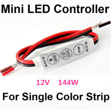 Wholesale 100PCS DC 12V 144W Mini Sinlge Color 3528 5050 Strip LED Controller Dimmer