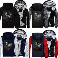 DC Suicide Squad Joker Sweatshirts Harley Quinn Zip Hoodies Fashion 3D Print Winter Thicken Jacket Casual Coat Men's Clothing
