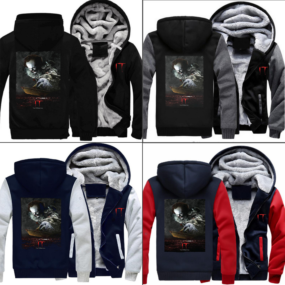 DC Suicide Squad Joker Sweatshirts Harley Quinn Zip Hoodies Fashion 3D Print Winter Thicken Jacket Casual Coat Men's Clothing