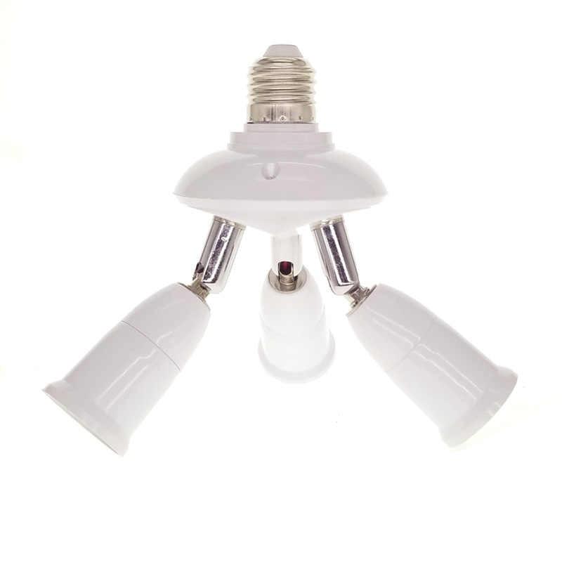 1 To 1/3/4/5 Light Adjustable Converters Holder E27 To E27 Socket Splitter Led Lighting Lamp Split Adapter Bulb Holders Base