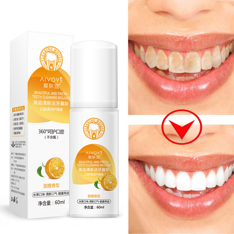 Beautiful And Fresh Teeth Cleaning Mousse Pure Natural Tooth Brushing Whitener Detoxifying Dental Oral Hygiene Teeth Whitening