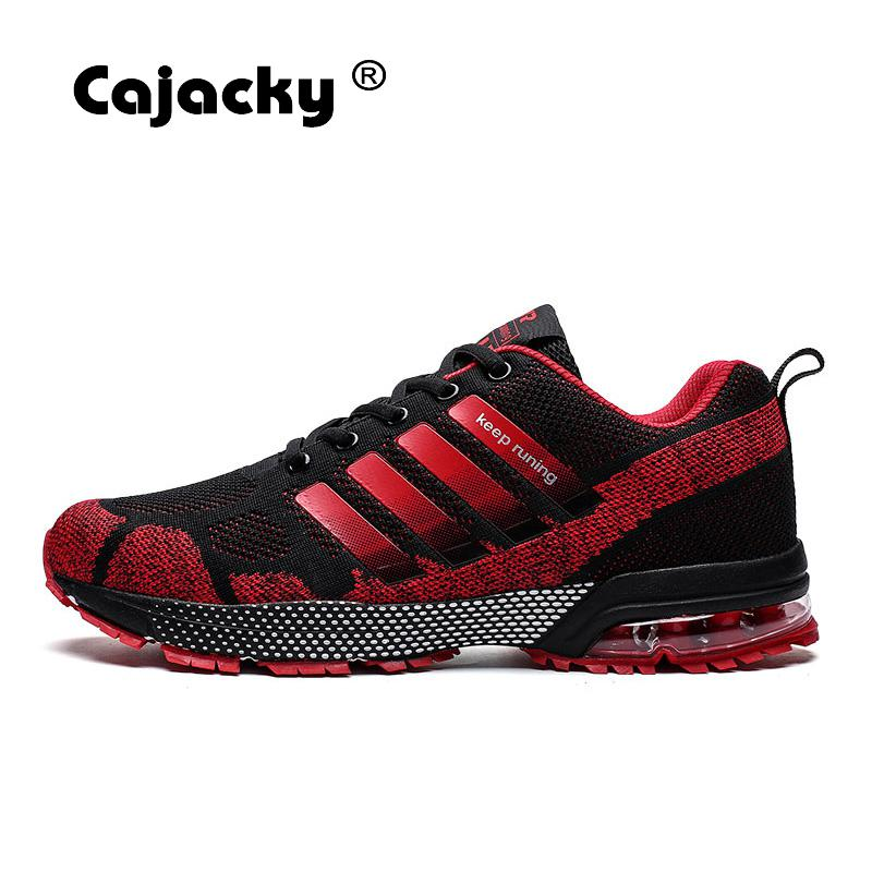 Cajacky Men Sneakers Running Plus Size 36-47 Unisex Air Mesh Jogging Shoes Outdoor Trainers Shoes Lightweight Zapatillas Hombre