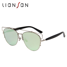 LianSan Fashion Vintage Retro Cat Eye Polarized Female Sunglasses Women Luxury Brand Designer Stainless Frame UV400 LS2011
