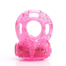 IKOKY Men Silicone Penis Ring Sex Vibrating Cock Ring Toy Butterfly Ring Delay Premature Ejaculation Cock Ring Adult Product