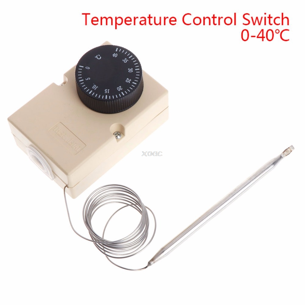ac220v 0 40 degree temperature switch capillary thermostat. Black Bedroom Furniture Sets. Home Design Ideas