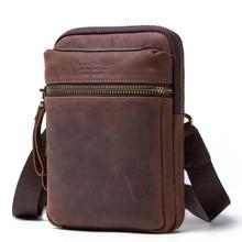 new luxury Leather Men Bag Casual Business Messenger Bag For Vintage Men's Crossbody Bag Male Shoulder Bags Mobile phone bolsas все цены