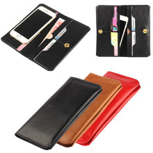 For Samsung Galaxy S7 S6 Edge Purse Case Universal Top Genuine Leather Wallet Universal Cover Fundas