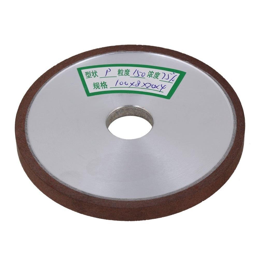 150# Grit Flat Disc Straight Silver Diamond Aluminum Resin Grinder Grinding Wheel (100x8x20mm)