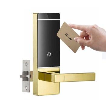 Cerradura electrónica inteligente con cerradura, tarjeta M1, cerradura electrónica con cierre único