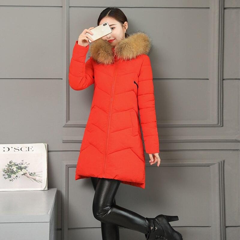 Femmes La Épais Sintépon D'hiver Veste Plus Manteau Simple À Noir Long vert rouge Taille Capuche Parkas Parka Chaud Style jaune Solide orange ZqSZpr
