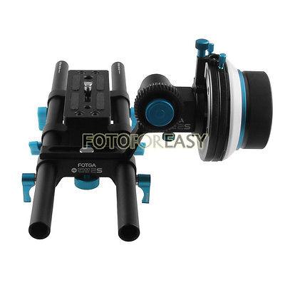 FOTGA DP500IIS DSLR RIG Follow Focus A/B Hard Stops + DP3000 15mm Rod Baseplate Rig fotga upgrade dp500iis a b hard stop qr dampen follow focus quick release 15 rod