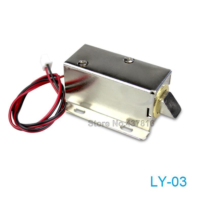 LY-03 DC12V / 24V Electromagnetic Lock Small Electronic Locks Drawer Electric Bolt Lock цены