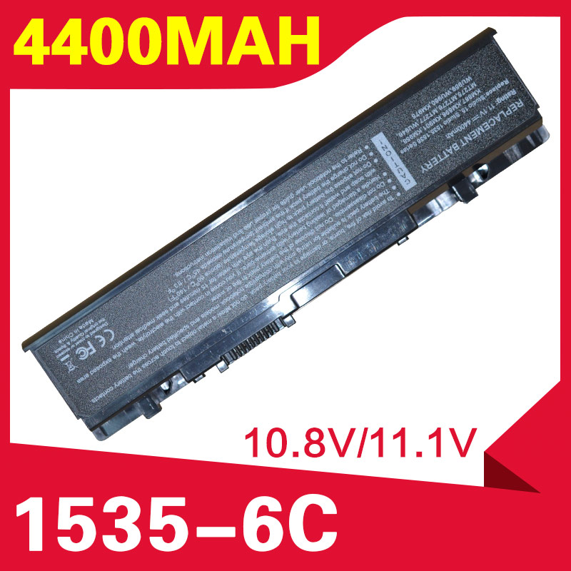 ApexWay 4400mAH Battery Laptop Battery For <font><b>Dell</b></font> 312-0701 A2990667 KM958 WU946 FOR <font><b>Dell</b></font> <font><b>Studio</b></font> <font><b>1535</b></font> 1536 1537 1555 1557 PP33L image