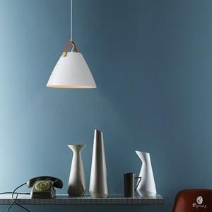 Image 4 - Moderne Leder Hängenden Lichter Norlux Phantasie Europa Anhänger Lampe LED Aluminium Leuchte Hause Dekoration Esstisch Bar Schlafzimmer