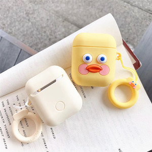 Image 3 - 3D Dễ Thương Brunch Anh Trai Xúc Xích Bánh Mì Nướng Vàng DUDU Vịt Airpods Silicone Rung 2 Bluetooth Không Dây Bao