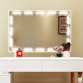 DIY هوليوود نمط LED مرآة ضوء مع لمسة باهتة و امدادات الطاقة مرآة لوضع مساحيق التجميل الغرور مصباح ليد ل خلع الملابس الجدول