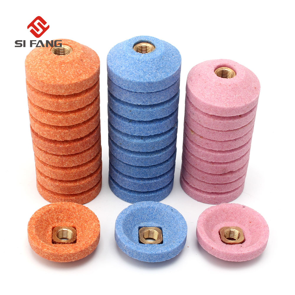 10Pcs 30mm Grinding Wheel Cup Surface Polishing For Air Micro Grinder Pneumatic Abrasive Stone Point Polishing Head Accessorie