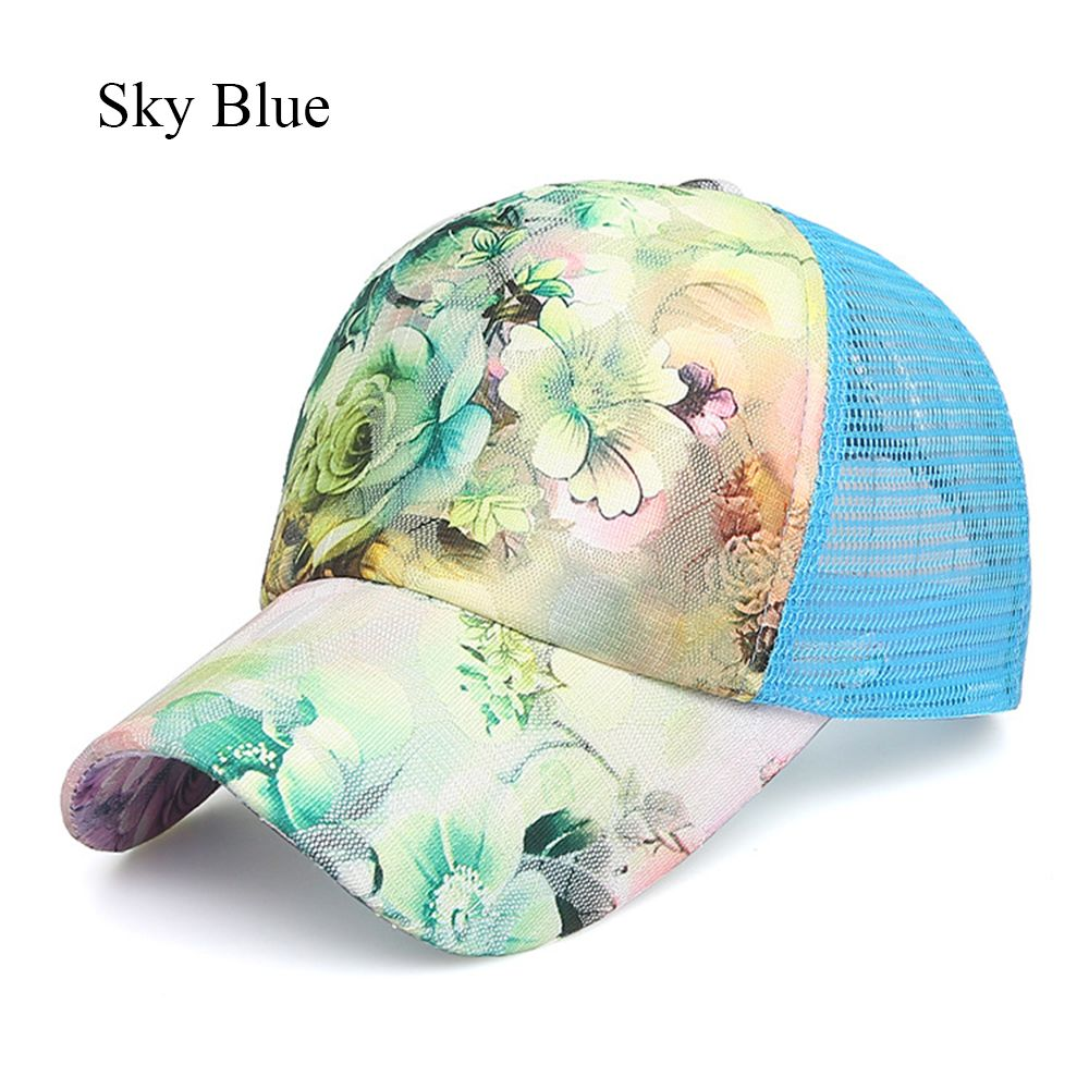 okdeals Women/'s Fashion Flower Printed Baseball Caps Gorras Sun Hats Breathable