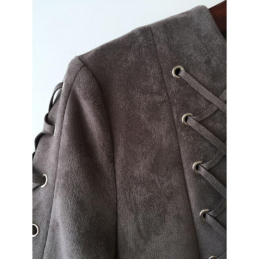 HIGH QUALITY Newest 2017 Baroque Designer Dress Women s Long Sleeve Lacing  Rope Zip Suede Bodycon Mini Dress on Aliexpress.com  ff0448381b98