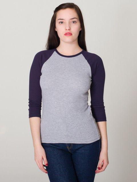 Estrelas europeus e Amercian Marca Nova Cor Sólida Luva Cropped Camisas De Beisebol T Knit Womens Tees Partes Superiores Das Meninas Frete Grátis