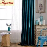 Blind Curtain Customize Modern Style Curtain Pattern Brand Design for Darkroom Cotton Landing Linen Blackout Curtains Su350 *30
