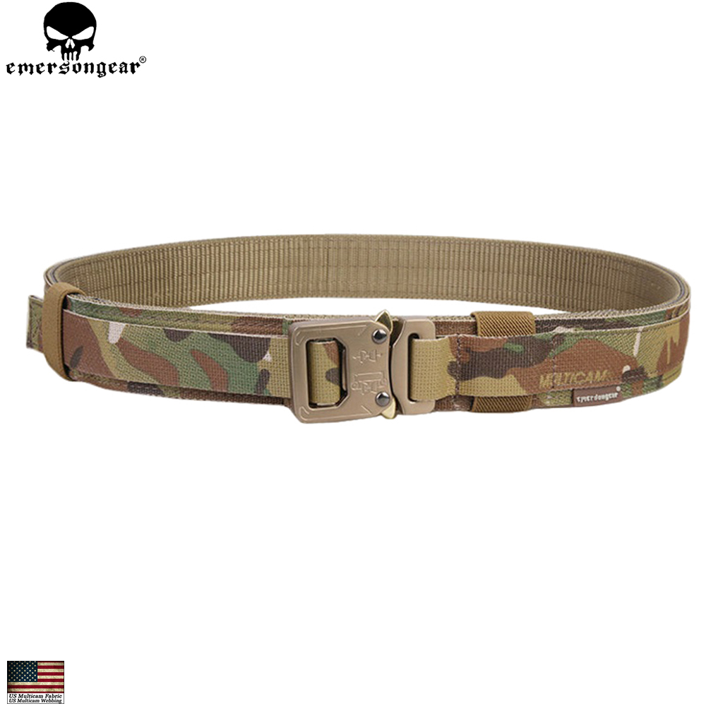 EMERSONGEAR Men Tactical Belt Hard 1.5 Inch Shooter Shooting Belt Military Airsoft Hunting Emerson Multicam Camouflage EM9250