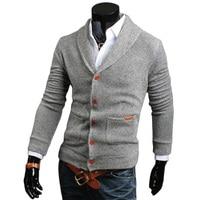 Men Solid V Neck Sweater Cardigan Men Long Sleeve Coats Brand Autumn Winter Casual Knitwear Male