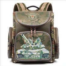 Kinder Orthopädische Rucksack Mochila Infantil Jungen Military Theme Printed Schultaschen Cartoon-Muster Wasserdichte Primäre Bookbag
