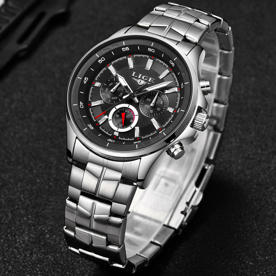 LIGE Mens Watches Waterproof Top Brand Luxury Quartz Watch Men Sport Watch Fashion Casual Military Clock Male Relogio Masculino 16