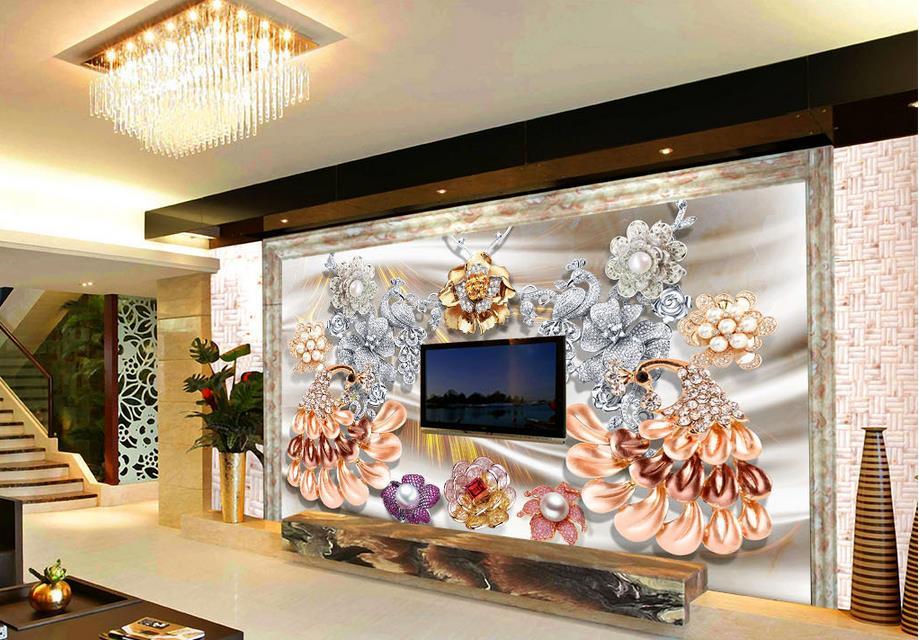 Aliexpresscom Buy wallpaper 3d customize 3d wall murals Peacock