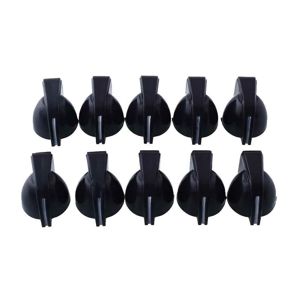 Plastic Effect Pedal 2018 Mini Chicken Head Knobs Guitar AMP Knobs 10pcs Amplifier Vintage Black Dropshipping Musical Parts